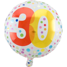 30 jaar folieballon incl.
