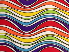Sjaal / Hoofdband rainbow Waves