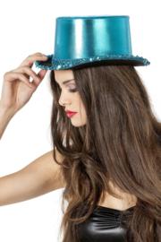 Hoge hoed blauw luxe