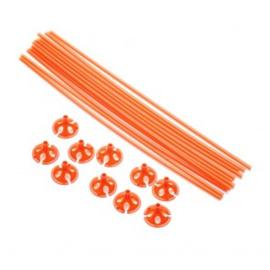 10 Ballon sticks 40cm oranje