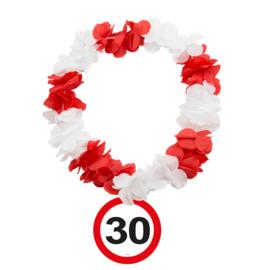 Hawaiikrans 30 jaar verkeersbord