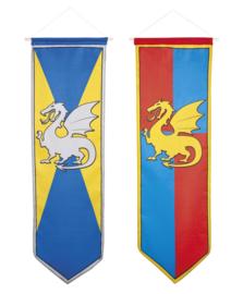 Draken en ridders banner