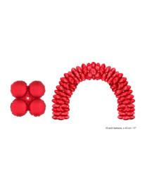 Folieballon rood rond voor boog 10 stuks