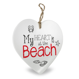 Houten beach hart My heart beach