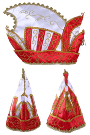 Prinsenmuts rood wit