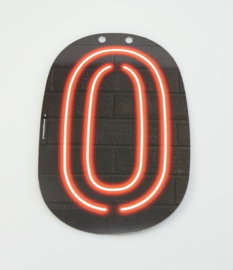 Neon cijfer 0