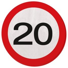 Verkeersbord servetten 20 jaar