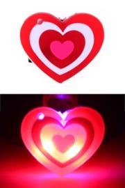 Pin met licht hartje in 3 kleuren
