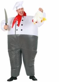 Opblaasbare koks kostuum