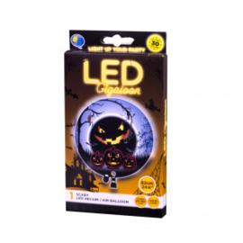 5 LED balloons Halloween Face