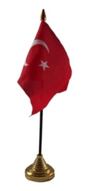 Tafelvlag Turkije zwart