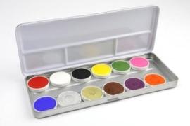 Superstar waterschmink palet 12 kleuren