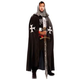 Middeleeuwse cape zwart