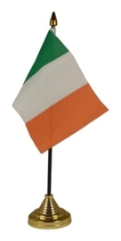 Tafelvlag Ierland zwart