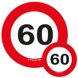 Tafelconfetti 60 jaar verkeersbord