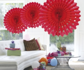Honeycomb fan rood