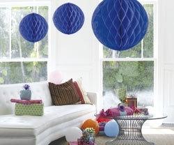Honeycomb deco groot blauw