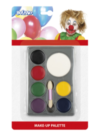Schmink clown set 7 kleuren