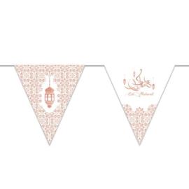 Vlaggenlijn 'Eid Mubarak' papier (3m)  | Ramadan