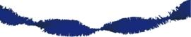 Crepe guirlande blauw 6 meter