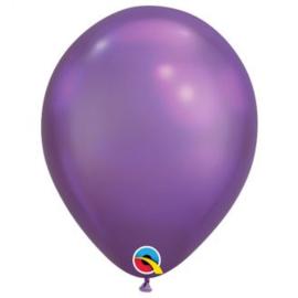Ballonnen luxe chroom paars 10 stuks