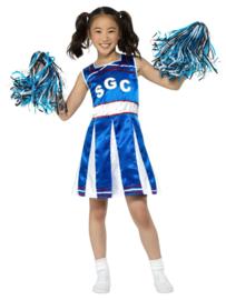 Cheerleader meisjes jurkje blauw