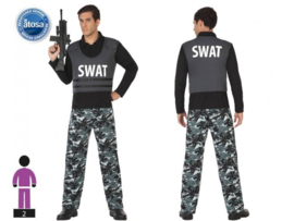 swat man kostuum