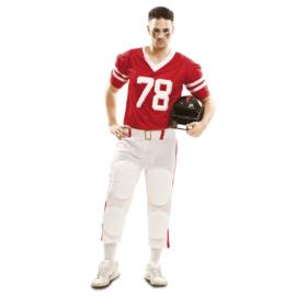 Rugbyspeler kostuum rood
