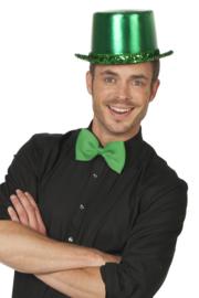Hoge hoed groen luxe