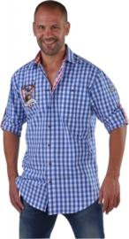 Hemd Edelweiss katoen OP=OP blauw