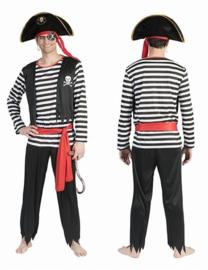 Piraat Pat mannen kostuum