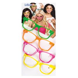 Set 4 Partybrillen 4 neonkleuren