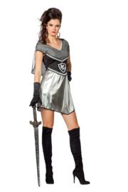Sexy ridders jurkje Silver