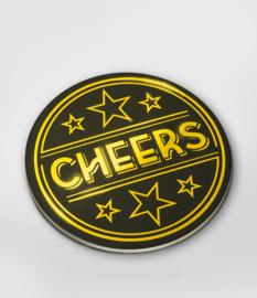 Glossy onderzetters Cheers