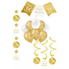 Verjaardag Feestpakket 4 delig goud   60 jaar