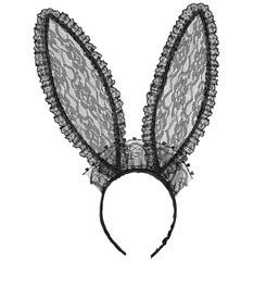 Bunny oren kant zwart