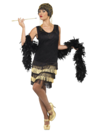 1920s Fringed Flapper jurk