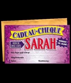 Cadeau cheque sarah