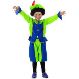 Vrolijk Pietpak kind Groen/Blauw 3-5 & 6-8 jaar