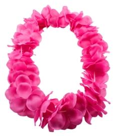 Hawai krans neon roze deluxe