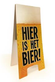 Waarschuwings bord hier is het bier
