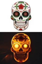 Broche day of the dead met licht