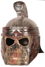 Romeinse skull helm deluxe brons
