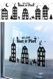 Raamstickers Sint en Piet
