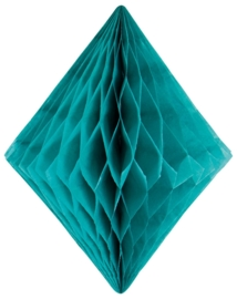 Honeycomb diamant turqoise