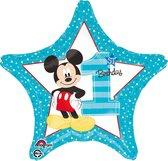Folieballon Mickey '1st Birthday' (43cm)