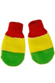 Kinder wanten rood geel groen
