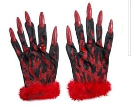 Handschoenen duivel met nagels