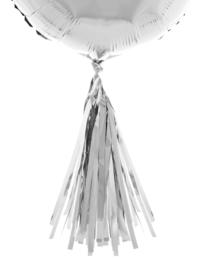 Ballon pompoms 5 stuks zilver