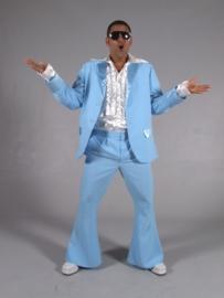 Disco / 70`s kostuum lichtblauw